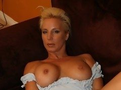 Naughty Wife TJ: Naughty TJ Hart in White Lingerie Masturbating