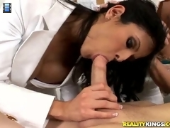 The cock casting: The ladies get their first man in and give him a close and thorough inspection to see if he will pass