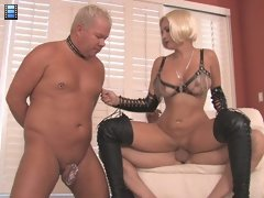 Proper Cuck: Sklyer Instructs The Cuck To Lube Up Her Stud's Huge Cuck, Making Sure He Deep Throats It.^clubdom Wife Porn Sex XXX Video Movie Che