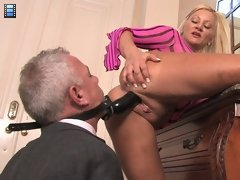 Face Fucked Hubby: Mistress Charity is frustrated with her house slave. She will accept no excuses for his lack of performance.