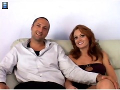 Hot Brunette Wife Fucks New Man in Front of Husband