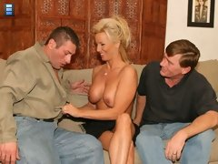 Kyle brought his sexy and seductive wife TJ over for some hot wife swapping action.