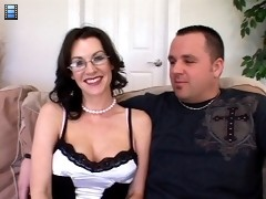 Hot Brunette Busty Wife Fucks New Man Hubby Watches