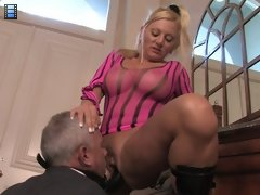 Face Fucked Hubby: Your job won't be finished until my cum is running down your throat - She tells him.